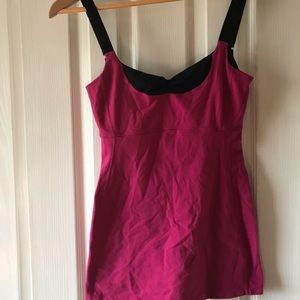Lululemon athletica pink and black sports top